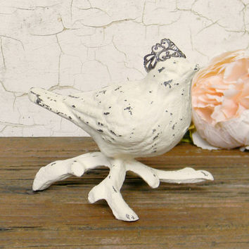 Bird Statue, Bird Figurine, Cast Iron Bird Statue, Table top Bird Statue, Small Bird Statue, Bird Lovers Gift, Bird Decor, Bird Home Decor