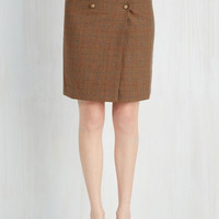 50s, Scholastic Mid-length Pencil Well-to-Brew Skirt
