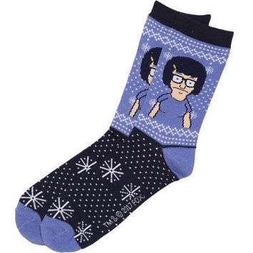 Bob's Burgers Tina Belcher Special Snowflake Adult Unisex Crew Socks - Blue