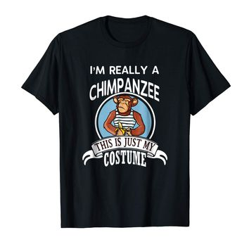 Chimpanzee Halloween Costume T-shirt This Is Just My Costume