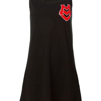 ESBONJF Love Moschino logo to the chest sleeveless dress