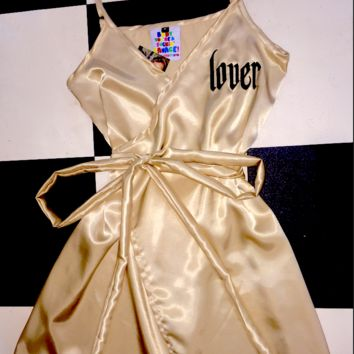 SWEET LORD O'MIGHTY! LOVER SILK DRESS IN SANDSTONE
