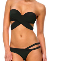 Peixoto Bella Bikini Top - Black Limited Edition