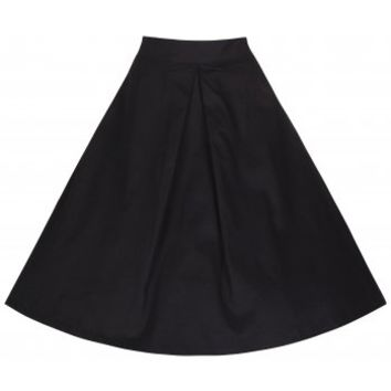 'Ruthy' Seriously Cute Black Vintage 50's Inspired Flared Skirt