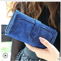 Colorful Faux Suede Wallets