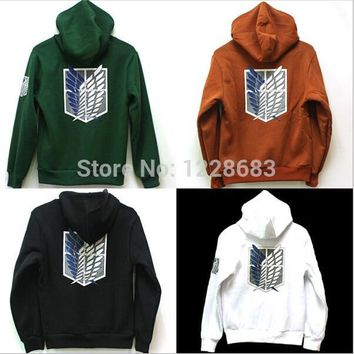 Cool Attack on Titan  Cosplay Costume No  Scouting Legion Anime Hoodie Sweater Green Black 9 Colors For Women Men AT_90_11