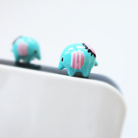 Cute Couple thai Elephant  - IPhone & earphone dust plug - Cellphone Accessories
