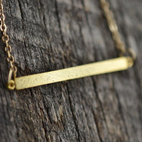 Dainty Bar Necklace, Gold Bar Necklace, Minimalist Necklace, Layering Necklace, Boho Jewelry
