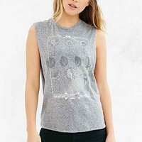 Truly Madly Deeply Dandy Moons Muscle Tee- Grey