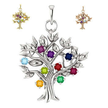 Personalized My Tree™ Family Pendant with up 9 Stones