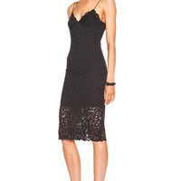 NICHOLAS Paisley Lace Bra Dress in Black | FWRD