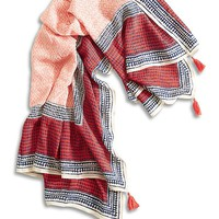 Lucky Brand Turkish Tile Scarf Womens - Multicolor (One Size)