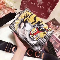 Kalete Gucci High quality Fashion Tiger Head Embroidering Shoulder Bag Crossbody bag I