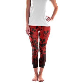 005f37e4ed88b Skull Leggings - Halloween Skull Leggings - Womens and Mens