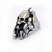 Snakes and Rats nest mysterious skull ring in the world you do not understand SA466