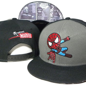 TokiDoki Marvel Swinging Spiderman Snap-back Cap for Adults