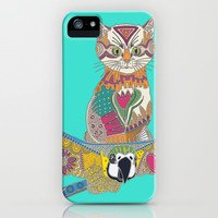 air kitten turquoise iPhone & iPod Case by Sharon Turner