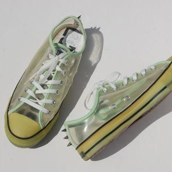 glow in the dark studded converse allstars hard to find rare chucks lo tops rave