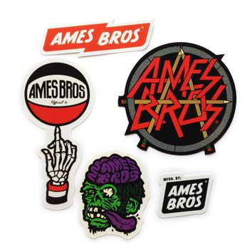 Ames Bros Sticker 5-Pack