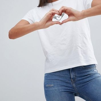 ASOS TALL VALENTINES T-Shirt with Tattoo Heart at asos.com