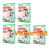 50 Shots Fujifilm Instax Mini Film White Polaroid Instant Photo for Polaroid Mio 300 Fuji film Instax Mini 8 90 70 7s 25 50s Camera
