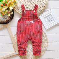 Baby Overall pants Newborn Bebe terry cotton Overalls Jumpsuits For Toddler/infant Boys Girls Bib striped Pants 1-3 years