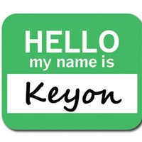Keyon Hello My Name Is Mouse Pad