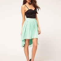 Rare Corset Hi Lo Dress at asos.com