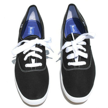 keds black and white