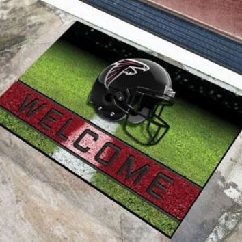 Atlanta Falcons Door Mat 18x30 Welcome Crumb Rubber