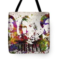 "Nirvana in Color Tote Bag for Sale by Aged Pixel (18"" x 18"")"