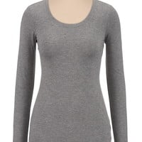 Long Sleeve Basic Color Tee