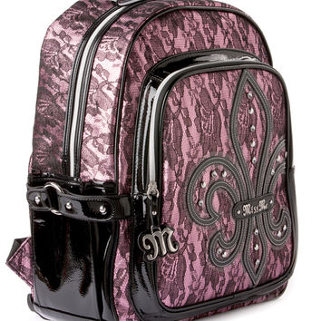 Heather Pink Lace Backpack