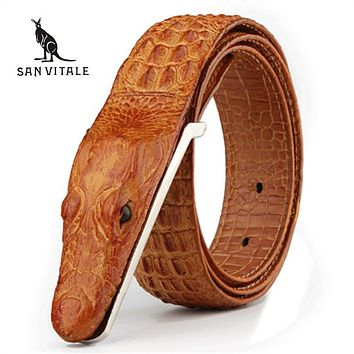 Mens Belts Luxury cow Leather