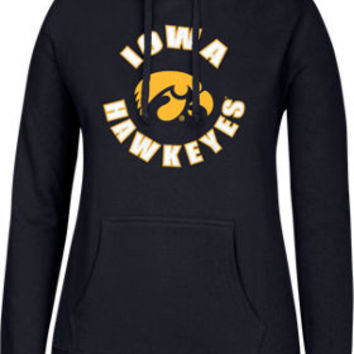 Women's J. America Iowa Hawkeyes College Cotton Pullover Hoodie | Finish Line