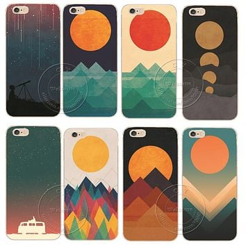 The Ocean The Sea The Wave Designs Hard Plastic Back Case Cover For Apple iPhone 4 4S 5 5S 5C SE 6 6S 7 Plus 6SPlus Shell Coque