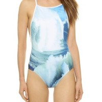 Wave Collage Bathing Suit