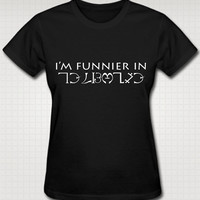 Supernatural I'm Funnier In Enochian T-Shirt XS, S, M, L, XL