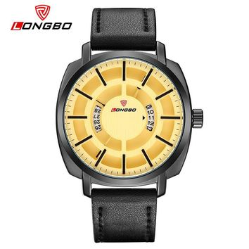 Casual Hollow Out Dial Unique Design Watches Leather Date Calendar Men Women Waterproof Wrist Watches