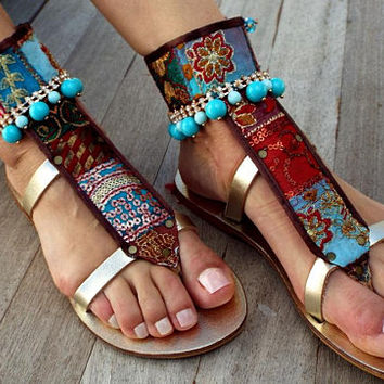 Luxury Gold Sandals, 'KARMA' Leather sandals, Greek handmade leather sandals, Artisanal sandals, made to order