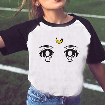 Newest Sailor Moon Shirt women t-shirt harajuku japanese anime Sailor moon clothes t shirt female cute kawaii tshirt summer tops