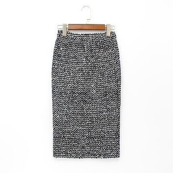 Pencil Sequined Wrap Skirt