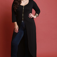 Plus Size Quarter Sleeves Maxi Top | UrbanOG