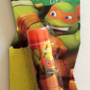Nickelodeon TMNT Teenage Mutant Ninja Turtle Pizza Flavored Lip Balm - Michelangelo / Orange Mask
