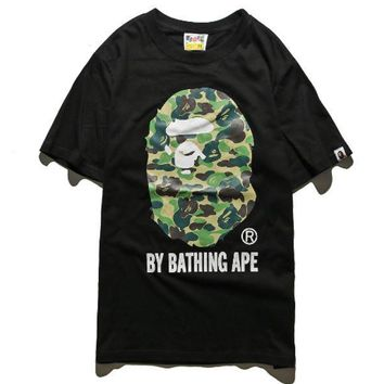 CREY9N BAPE Men Fashion Casual Pattern Print Camouflage T-shirt