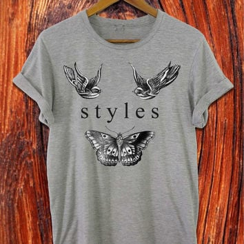 one direction shirt 1D shirt harry styles tatto shirt harry styles shirt black white grey t shirt S-XXL size available