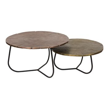 Cross Section Tables Set Of Two Multi