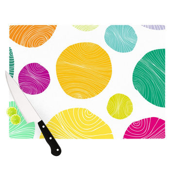 "Anchobee ""Eolo"" Multicolor Circles Cutting Board"