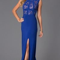 Sleeveless Scoop Neck Floor Length Dress