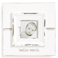 Infant Mud Pie 'Hello World' Picture Frame